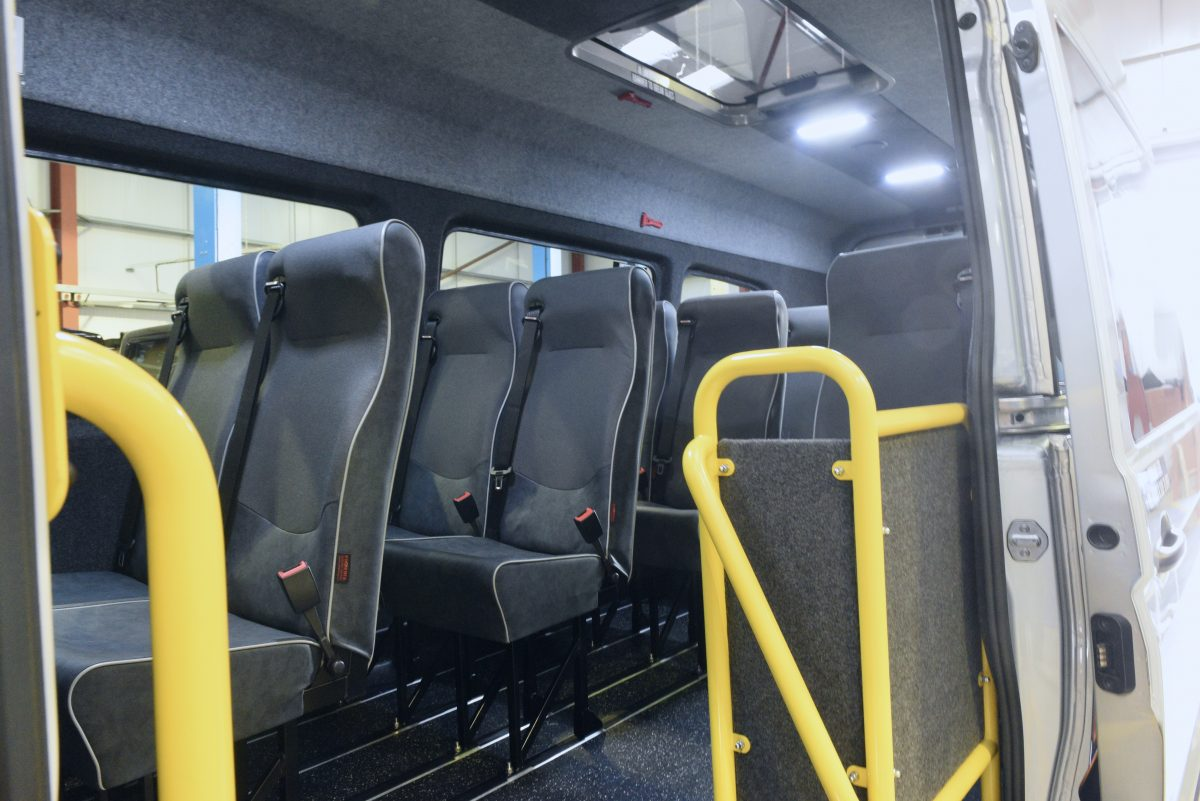Accessible converted VW Crafter minibus - interior